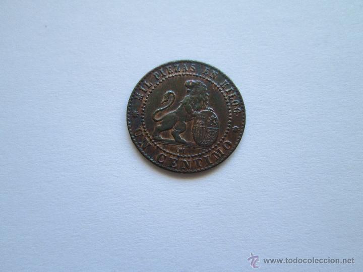 Monedas de España: GOBIERNO PROVISIONAL * 1 CENTIMO 1870 - Foto 2 - 49382228
