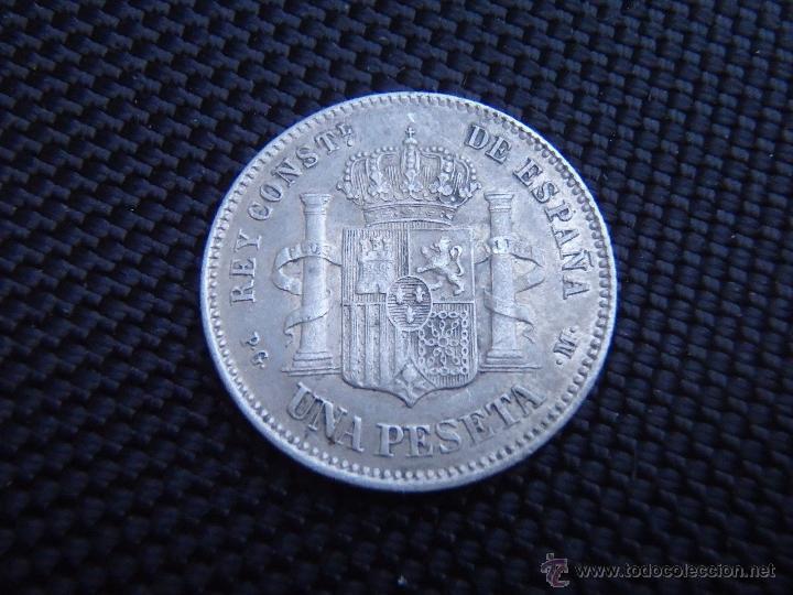 Monedas de España: ALFONSO XIII - 1 PESETA 1891 *18-91 EBC/EBC+ - Foto 2 - 49408764