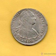 Monedas de España: MONEDA REAL DE A 8 CAROLUS IIII CARLOS IV CECA MÉXICO MEJICO AÑO 1803. AUREO CALICO 699. REALES. Lote 49448159