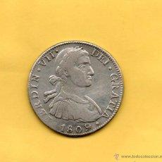 Monedas de España: MONEDA REAL DE A 8 FERDIN VII FERNANDO VII CECA MÉXICO MEJICO AÑO 1809 . AUREO CALICO 539. REALES. Lote 49448397
