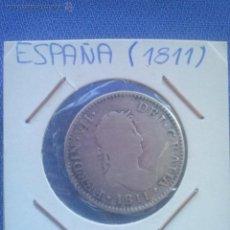 Monedas de España: MONEDA DE PLATA, DOS REALES DE FERNANDO VII 1811 CECA CADIZ G I BC. 2 REALES.. Lote 49452542