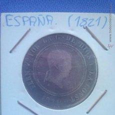 Monedas de España: MONEDA DE PLATA, 10 REALES DE FERNANDO VII RESELLADO 1821 CECA SANTANDER BC. FERDIN 7º.. Lote 49452771