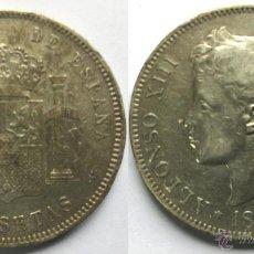 Moedas de Espanha: MONEDA DE PLATA ALFONSO XIII - DURO 5 PESETAS AÑO 1898 - *18*98 MADRID SG V. Lote 49511333