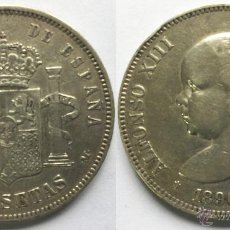 Monedas de España: ALFONSO XIII 5 PESETAS AÑO 1890 - *18*90 MADRID MP M. Lote 49511530