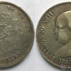 Monedas de España: ALFONSO XIII 5 PESETAS AÑO 1889 - *18*89 MADRID MP M.. Lote 49511632