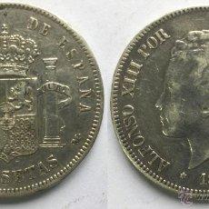 Monedas de España: ALFONSO XIII 5 PESETAS AÑO 1892 - *18*92 MADRID PG M.. Lote 49511743