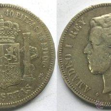 Monedas de España: MONEDA DE PLATA DE 5 PESETAS DE AMADEO I 1871 - *18*74 MADRID DE M.. Lote 49511967