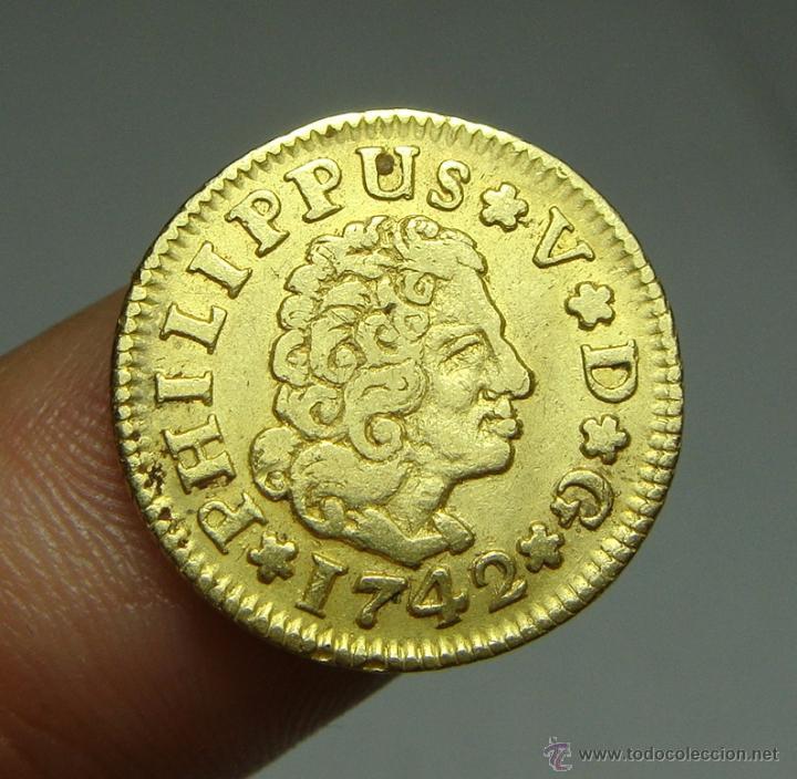 1/2 ESCUDO. ORO. FELIPE V. SEVILLA - 1742 (Numismática - España Modernas y Contemporáneas - De Reyes Católicos (1.474) a Fernando VII (1.833))