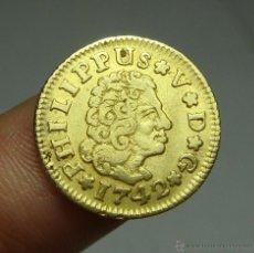 Monedas de España: 1/2 ESCUDO. ORO. FELIPE V. SEVILLA - 1742. Lote 190901276