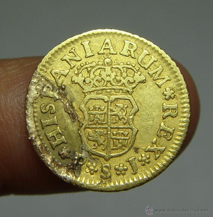 Monedas de España: 1/2 Escudo. Oro. Felipe V. Sevilla - 1742 - Foto 2 - 190901276