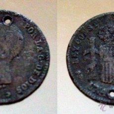 Monedas de España: 1 PESETA DE ALFONSO XIII 1892 FALSA DE ÉPOCA. Lote 49709122