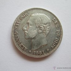 Monedas de España: ALFONSO XII * 2 PESETAS 1881*81 MS M * PLATA *. Lote 50130137