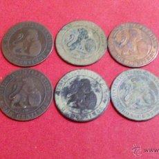 Monedas de España: LOTE DE 10 MONEDAS DE 2 CENTIMOS, 1870. Lote 50142087