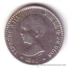 Monedas de España: ESPAÑA 50 CENTIMOS 1892 ALFONSO XIII TIPO PELÓN *NUMISBUR*. Lote 50251863