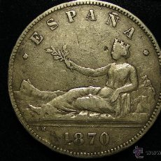 Monedas de España: MONEDA DE PLATA DE 5 PESETAS AÑO 1870 GOBIERNO PROVISIONAL. Lote 50360043