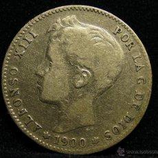 Monedas de España: MONEDA DE PLATA DE UNA PESETA. ALFONSO XIII DE1900. Lote 50380499