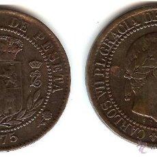 Monedas de España: 10 CENTIMOS CARLOS VII. 1875. BRONCE. BRUSELAS. BC.. Lote 50450630