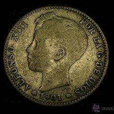 Monedas de España: MONEDA DE PLATA DE UNA PESETA. ALFONSO XIII DE1901. Lote 50454769