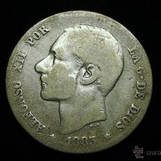 Monedas de España: MONEDA DE PLATA DE UNA PESETA. ALFONSO XII DE1883. Lote 50461456
