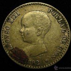 Monedas de España: MONEDA DE PLATA DE 50 CENTIMOS ALFONSO XIII DE 1892. Lote 50502350