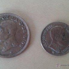 Monedas de España: LOTE DE 2 MONEDAS DE COBRE ALFONSO XIII. Lote 50512006