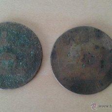 Monedas de España: LOTE DE 2 MONEDAS DE COBRE AÑO 1870. Lote 50526649
