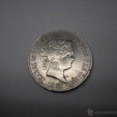 Monedas de España: ESCUDO DE PLATA DE 1867, MADRID. REINA ISABEL II. Lote 50596596