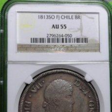 Monedas de España: 8 REALES - 1813 A.C.-632, SANTIAGO -FJ, AG CERTIFICADA NGC, AU 55, SC-. Lote 50688816