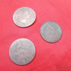Monedas de España: CINCO CENTIMOS 1 ALFONSO XII AÑO 1877 - 2 GOBIERNO PROVISIONAL AÑO 1870. Lote 50926997