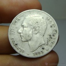 Monedas de España: 1 PESETA. PLATA. ALFONSO XII. 1883 - MSM *83. Lote 103363836