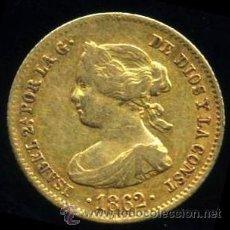 Monedas de España: ISABEL II - 40 REALES DE ORO 1862 MADRID - ESCASA. Lote 51024088