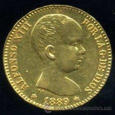 Monedas de España - 20 Pesetas ORO ALFONSO XIII 1889 *18-89 - 51109441