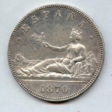 Monedas de España: EXCEPCIONAL. 5 PESETAS 1870*18*70. Lote 51145617