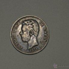 Monedas de España: MONEDA DE PLATA AMADEO I - 5 PESETAS 1971 - DEM *18 - *74 -PESO 25GR. Lote 51187133