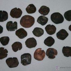 Monedas de España: LOTE DE 27 MONEDAS ANTIGUAS - RESELLOS DE LOS AUSTRIAS - SIGLO XVII. Lote 51248465