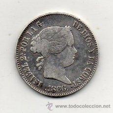 Monedas de España: ISABEL II. 1 ESCUDO. AÑO 1866. CECA DE MADRID. PLATA.. Lote 51478233