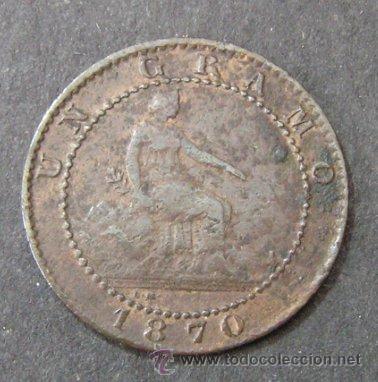 GOBIERNO PROVISIONAL - 1 CÉNTIMO 1870 (Numismática - España Modernas y Contemporáneas - De Isabel II (1.834) a Alfonso XIII (1.931))