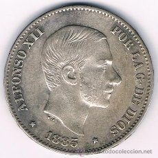Monedas de España: ALFONSO XII. 50 CENTAVOS PESO. FILIPINAS. 1.885. Lote 51565805