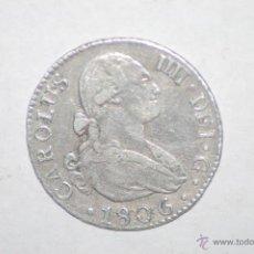 Monedas de España: CARLOS IV 2 REALES 1806 SEVILLA CN. Lote 51698100