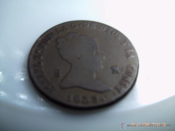 OCHO MARAVEDIES DE ISABEL II 1838 SEGOVIA. BUENA CONSERVACION (Numismática - España Modernas y Contemporáneas - De Isabel II (1.834) a Alfonso XIII (1.931))