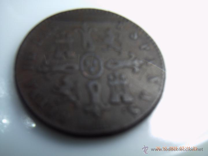 Monedas de España: OCHO MARAVEDIES DE ISABEL II 1838 SEGOVIA. BUENA CONSERVACION - Foto 2 - 51716717