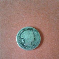Monedas de España: ISABEL II. 1 REAL DE 1859. CECA DE MADRID. PLATA.. Lote 51763585