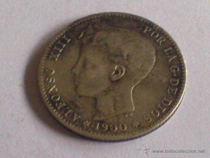 MONEDA 1 PESETA PLATA, AÑO 1900 ALFONSO XIII (Numismática - España Modernas y Contemporáneas - De Isabel II (1.834) a Alfonso XIII (1.931))