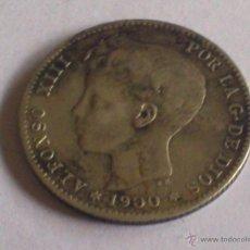 Monedas de España: MONEDA 1 PESETA PLATA, AÑO 1900 ALFONSO XIII. Lote 51889257