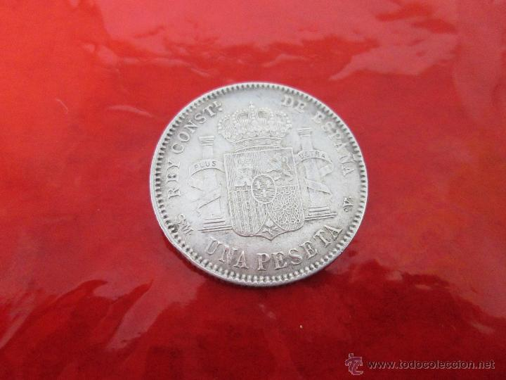 Monedas de España: AªMONEDA-ESPAÑA-1 PESETA ALFONSO XIII-1900*00-PLATA-24 mm.D-BUEN ESTADO-VER FOTOS.. - Foto 8 - 37074935
