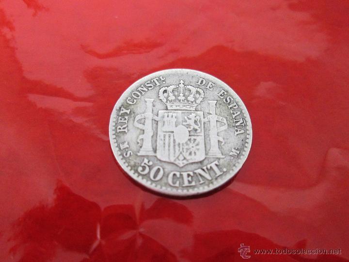 Monedas de España: AªMONEDA-ESPAÑA-50 CENTIMOS ALFONSO XII-PLATA-1880-18 MM.D-**NO LEGIBLES-VER FOTOS. - Foto 6 - 39640041