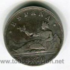 Monedas de España: DOS (2) PESETAS GOBIERNO PROVISIONAL 1870 *18 *74. Lote 52006774