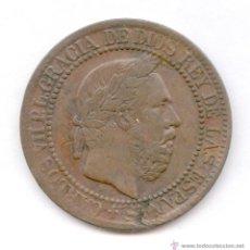 Monedas de España: UNA DE LAS MONEDAS MAS ESCASAS.10 CENTIMOS DE CARLOS VII AÑO 1875. GUERRAS CARLISTAS.. Lote 52149354
