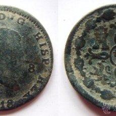 Monete da Spagna: FERNANDO VII 8 MARAVEDIS 1818 JUBIA. Lote 52265710