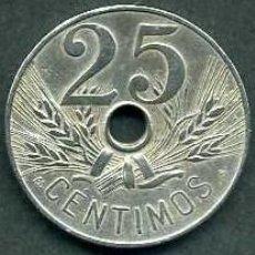 Monedas de España: ESPAÑA 25 CENTIMOS AÑO 1927 PCS ( MONEDA DE LA EPOCA DEL REY ALFONSO XIII ) Nº6. Lote 101201823
